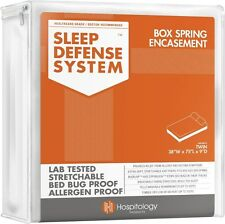 Sleep Defense System Box Spring Encasement Protector Bed Bugs Dust Mites Proof