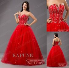 New A line Strapless Women Formal Prom Party Ballgown Adult Quinceanera Dresses