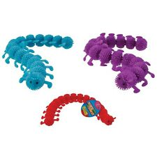 (1) Colorful Crawlie Tactile Caterpillar Tactile Fidget Toy Stretchy Ages 3+