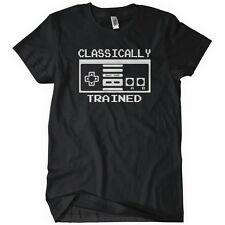 CLASSICALLY TRAINED CONTROLLER Mens T-Shirt Tee N Retro E Gaming S Old School
