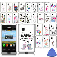 Hard Protector Case Cover For LG 840G Phone, Music Panda Owl Dream Catcher +Tool
