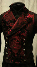 Authentic THE SHRINE CLOTHING Cavalier Red Victorian Style Gothic Vest S-XL NEW