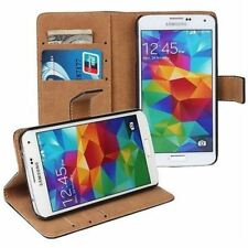 Genuine Luxury Real Leather Flip Wallet Case Stand Cover For iPhone Samsung Sony