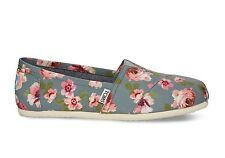 Toms Womens Classic Grey Pink Floral All Sizes Available BNIB