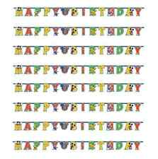 Mickey Mouse Balloon Party Add Age Happy Birthday Banner 1 - 5pk