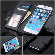 PU Leather Card Slots Wallet Stand Flip Case Cover Bag For APPLE iPhone 4 &4S