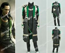 Thor 2: The Dark World Loki Cosplay Costume Halloween Party Movie Clothing New