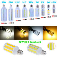 E27 E26 Bombilla COB LED Corn Spotlight Lamp Bulb Focos Warm Cool White 220V EGB