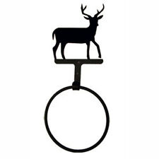 Wrought Iron Decorative Towel Ring Bathroom Décor Black PICK DESIGN