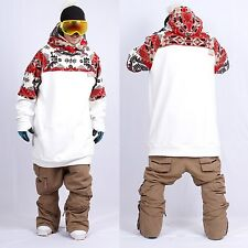 New arrival December long tall hoodie ski snowboard sports-gaia white