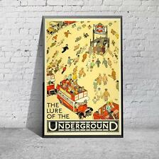 Vintage Lure Of The London Underground Travel Tourism Poster Print Picture A3 A4