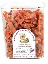 Homemade Chicken Jerky Wrapped Sweet Potato Treats For Dogs,  All Hand Made!