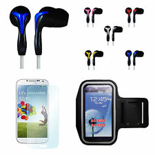 Galaxy S5 Sports Bundle Armband + Headset + Screen Guard for Gym Jogging Workout