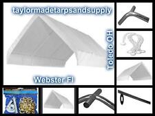 Heavy Duty Canopy Tarps - White or Silver Fast Shipping Starting At A Low $41.00