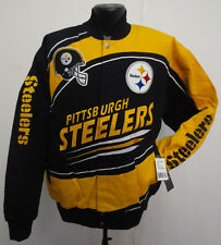 PITTSBURGH STEELERS JACKET MENS SENTINEL NFL FOOTBALL COTTON TWILL NWT POLAMALU