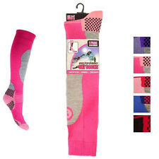 Ladies Soft Thermal Padded Long Hi Performance Ski Socks Hiking Walking Cycling