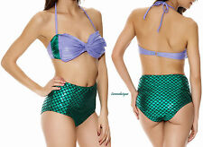 """ARIEL"" THE LITTLE MERMAID SHIMMERY RARE 2-PIECE SWIMSUIT  COSPLAY FREE SHIP"