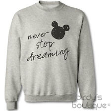 NEVER STOP DREAMING MOUSE SWEATER SWEATSHIRT MICKEY WALT INSPIRATIONAL MINNIE ♥♥