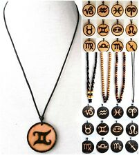 ETHNIC INSPIRED TRIBAL MENS WOMENS ASTROLOGY ZODIAC SYMBOL SIGN PENDANT NECKLACE