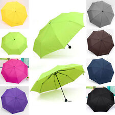 New Portable Waterproof Mini Folding Umbrella Triple folding Extension Umbrella