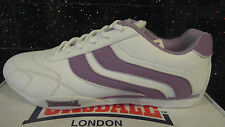 NEW Lonsdale Camden womens trainers shoes 112075 White & 2 stripe Lilac