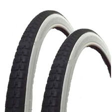 2x Raleigh Record 20 x 1 3/8 White Wall Bike Tyres & Inner Tubes Bicycle Shopper