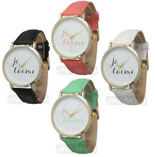"Ladies Geneva Je T'aime ""I Love You"" French Statement Watch - Free Shipping"