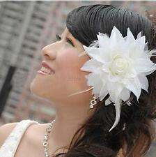 5COLOR OVERSIZED FLOWER HAIR CLIP ACCESSORY FASCINATOR WEDDING BRIDAL HEADPIECE