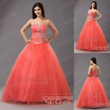 Formal Long Ball Gown Prom Masquerade Pageant Evening Party Quinceanera Dresses