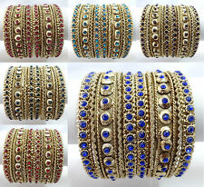 Indian Bollywood Ethnic Wedding Costume bangles bracelet Fashion Jewelry 502