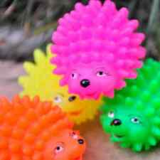 2~10pcs Cute Hedgehog Shape Pet Dog Puppy Squeaky Chew Toy Squeaker Ball Funny
