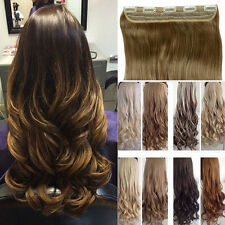 "27"" Half FULL HEAD CLIP IN HAIR EXTENSIONS wavy curly straight brown all color"