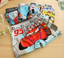 High Quality New 2014 Cotton Cartoon Kids Boys Boxers Underwear Boy Shorts Pants