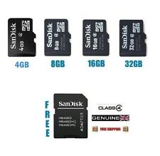 SANDISK 8GB 16GB 32GB CLASS 4 MICRO SD CARD WITH ADAPTER FOR MOBILE TABLET