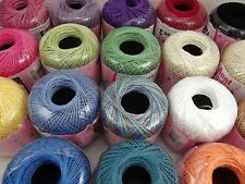 Aunt Lydia's #3 Cotton Crochet Thread Yarn Size 3 Select Color
