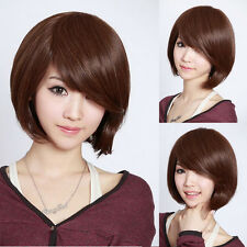 Fashion Cute Women's Lady Short Straight Full Wigs Hair Cosplay Party 3 Colors