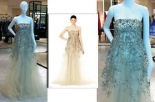 $13,490  New Oscar de la Renta Gold Lame Embroidered Tulle Organza Gown DRESS 8