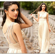 Free Shipping Hot Long Prom Dresses Beaded Party/Evening/Formal Gowns Custom