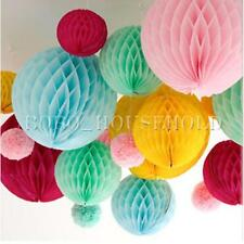 Wedding Party Table Honeycomb Balls Paper Lanterns For Garland Decorations Xmas