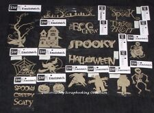 SCRAP FX Chipboard 'HALLOWEEN' Embellishments Witch (Choose from 19 designs)