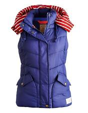 JOULES WOMENS CHARMWOOD HOODED QUILTED GILET BLUE PRINT - BNWT 2014