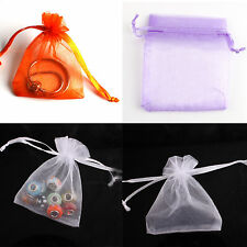 50PCS 7x9cm Organza Drawstring Pouch Wedding Jewellery Packaging Favour Gift Bag