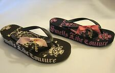Juicy Couture Carmen Sandals Flip Flops Thong Wedge Rubber