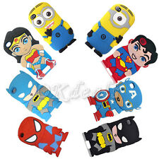 Cute Cartoon Super Hero Soft Cover Case For Ipod touch 4 5th Iphone 4/5S Gift