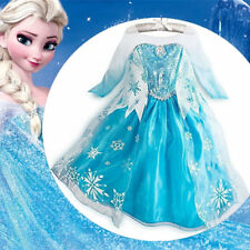 HOT Girl's Frozen Elsa Princess Dress Kids Party Cosplay Hallowen Costume Gift