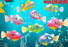 8colors Plastic Electric Pet Fish with light Robofish X-Mas kids gifts Wholesale