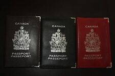 CANADA Canadian Passport Cover Holder BLACK RED BROWN Free Shipping NEW