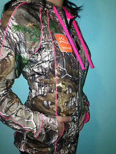 Official Licensed Realtree Women/Ladies Zip Up Hot Pink Hunting Camo Jacket