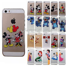 Funny Cute Stitch Cartoon Clear Transparent Hard Case Cover For iPhone 5 5s