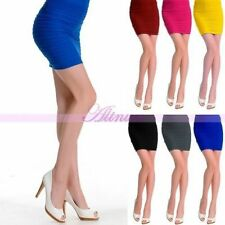 Lady Sexy Seamless Stretch Tiered Ribbed Straight Slim Party Career Pencil Skirt